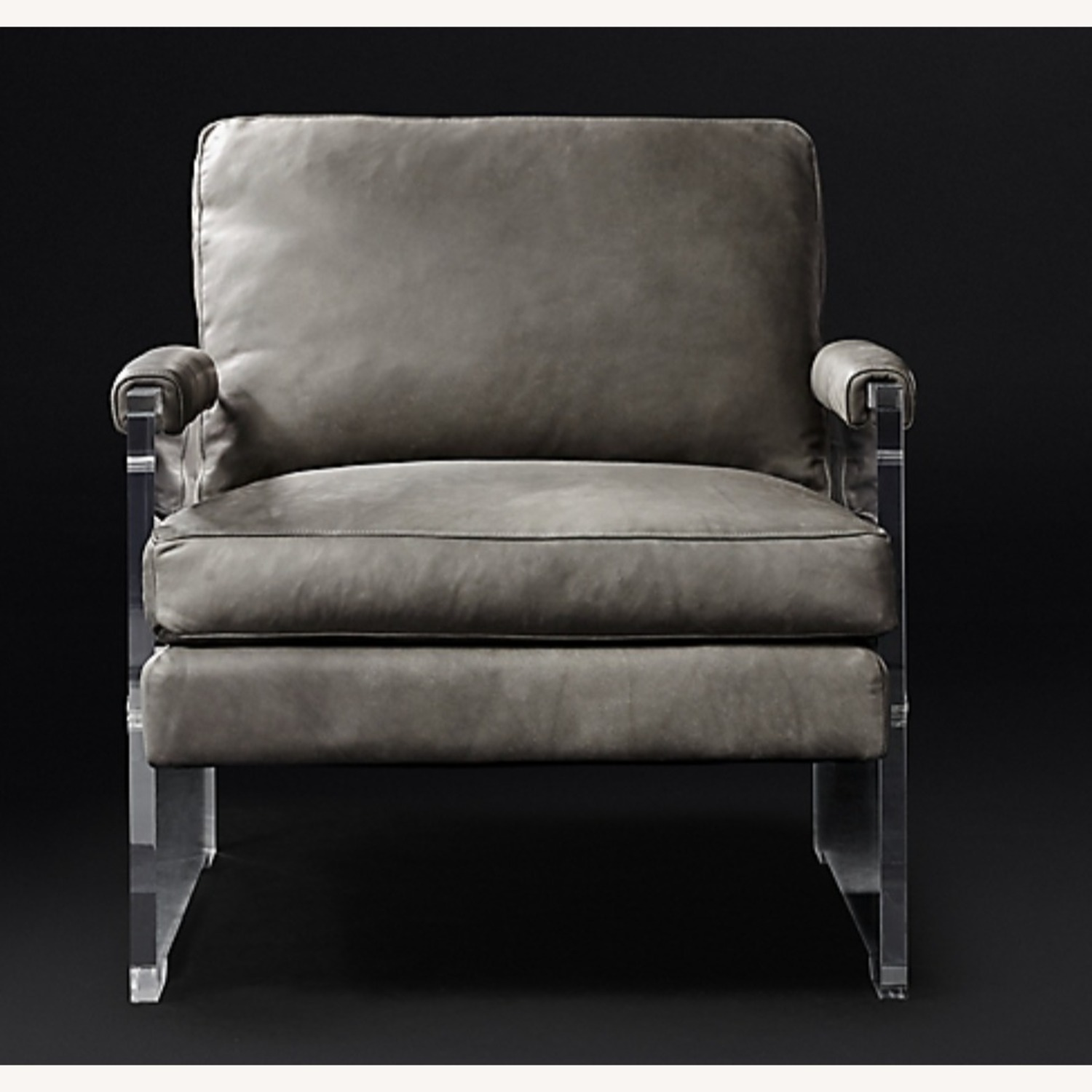 Restoration Hardware Leather Luca Chair - image-8
