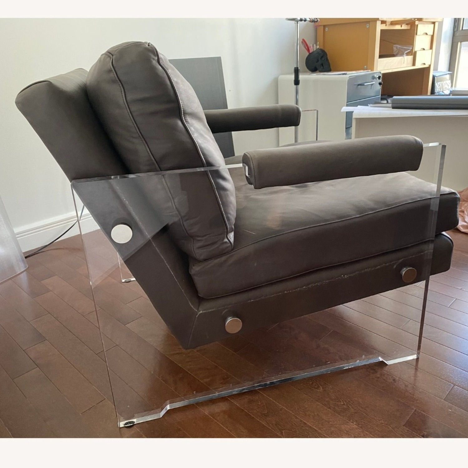 Restoration Hardware Leather Luca Chair - image-14