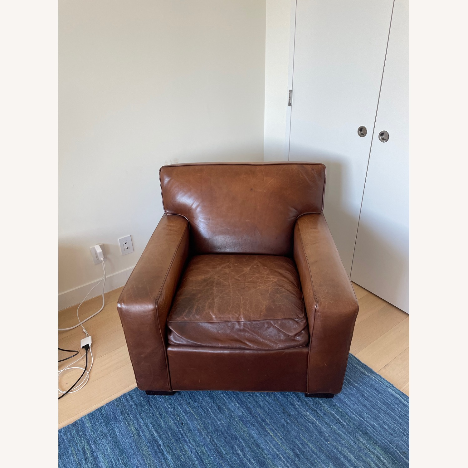 Mitchell Gold + Bob Williams Leather Chair - image-0