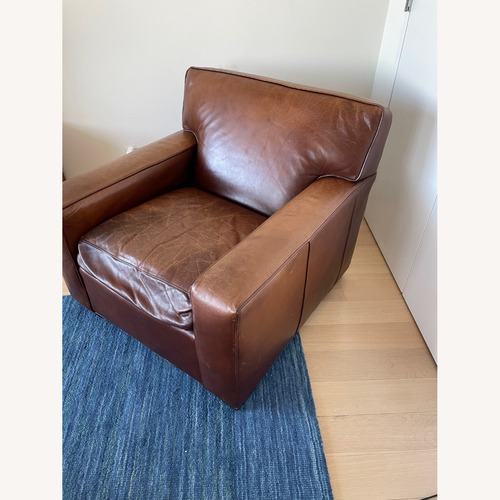Used Mitchell Gold + Bob Williams Leather Chair for sale on AptDeco