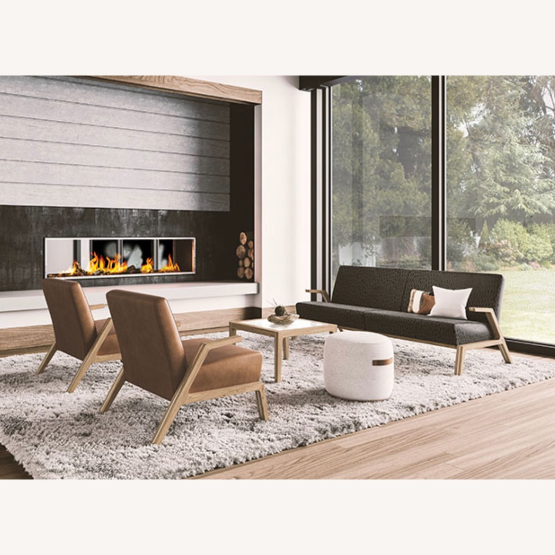 Jasper Mid-Century Walnut & Natural Finn Armchair - image-2