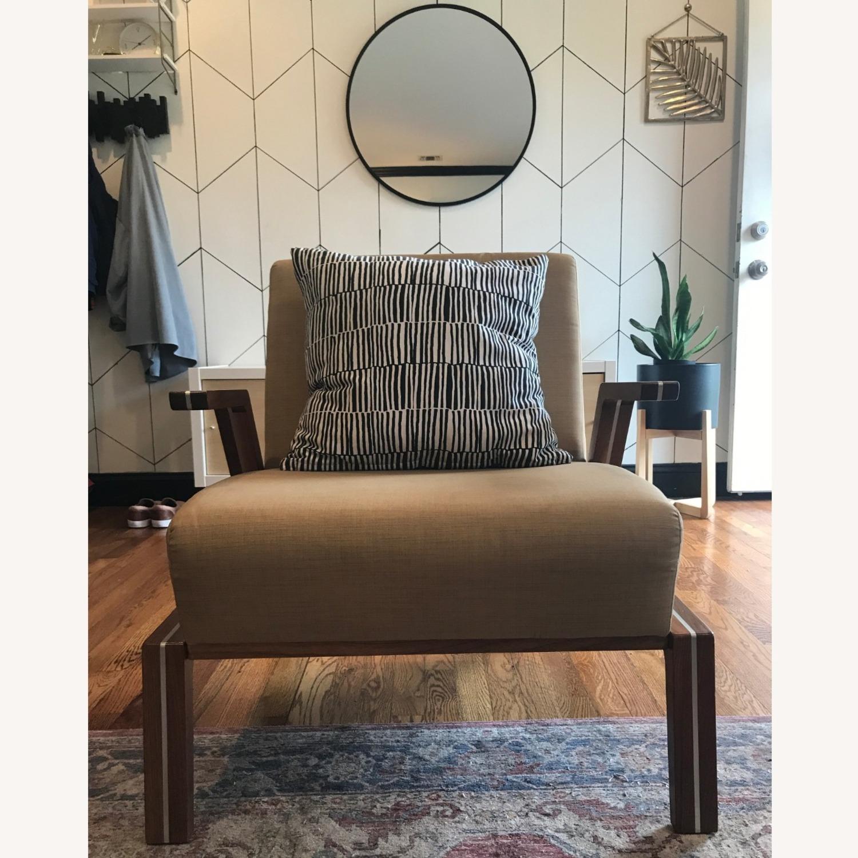 Jasper Mid-Century Walnut & Natural Finn Armchair - image-7