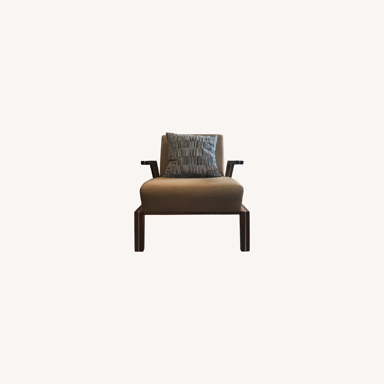 Jasper Mid-Century Walnut & Natural Finn Armchair - image-13