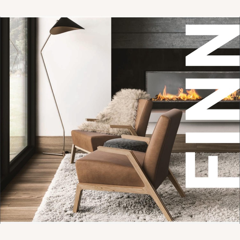 Jasper Mid-Century Walnut & Natural Finn Armchair - image-12