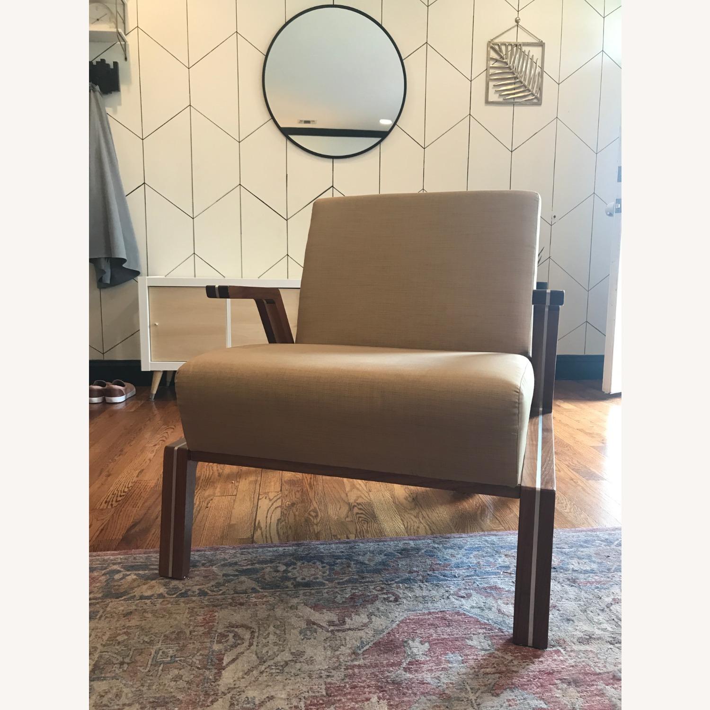 Jasper Mid-Century Walnut & Natural Finn Armchair - image-0
