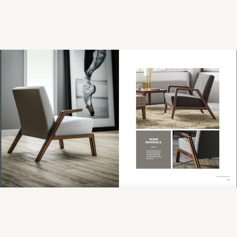 Jasper Mid-Century Walnut & Natural Finn Armchair - image-10