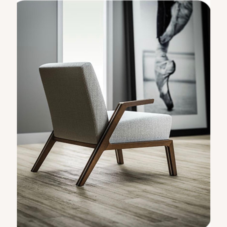 Jasper Mid-Century Walnut & Natural Finn Armchair - image-1