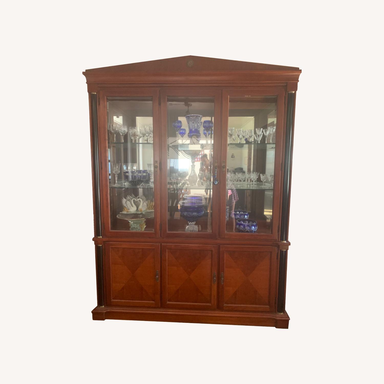 Ethan Allen Mahogany China Cabinet - image-0