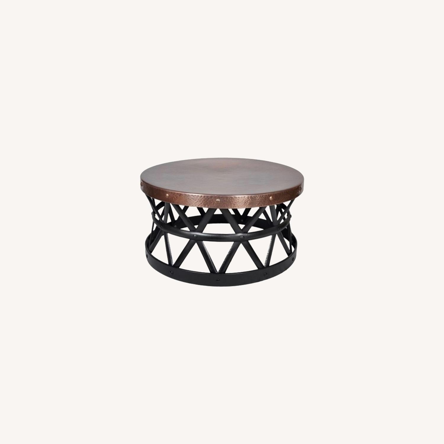 Wayfair Copper Drum Hammered Coffee Table - image-0