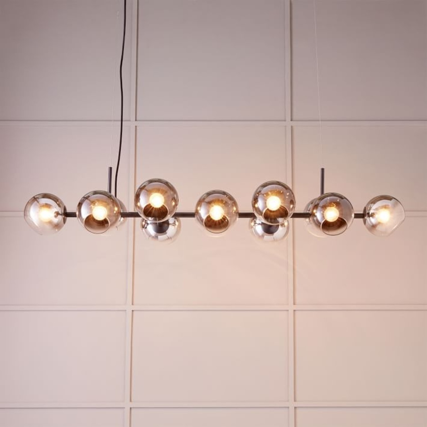 West Elm Staggered Glass 12-Light Chandelier - image-1
