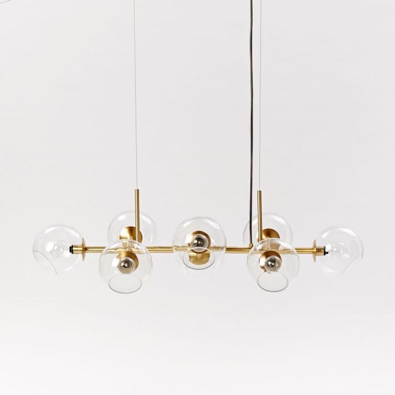 West Elm Staggered Glass 8-Light Chandelier - image-0