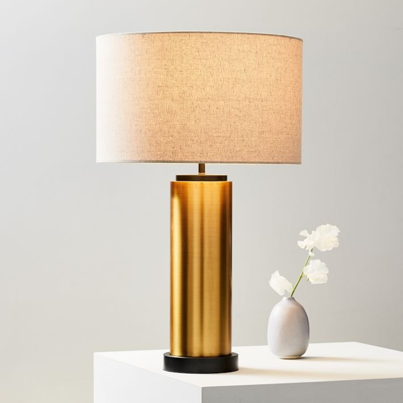 West Elm Pillar Table Lamp USB - image-0
