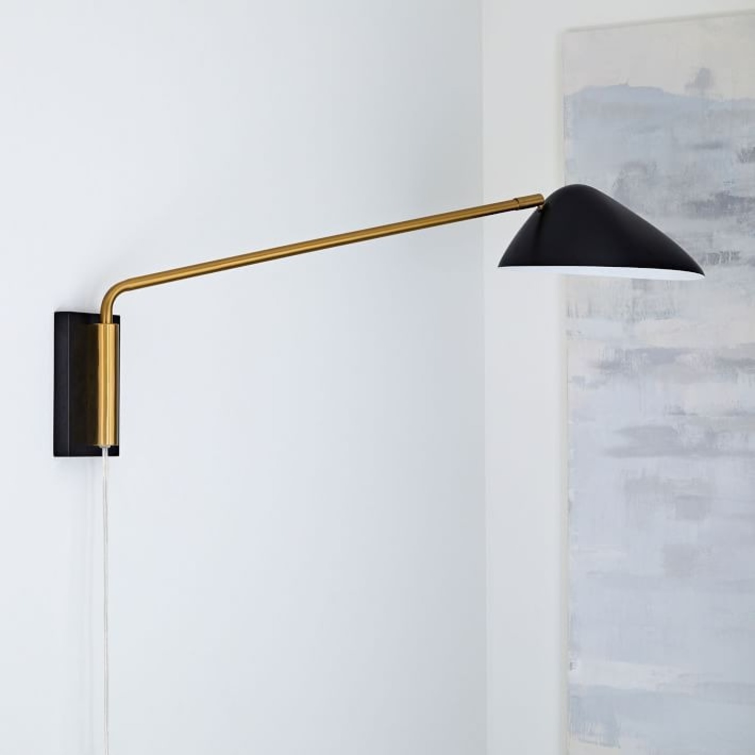 West Elm New Curvilinear Mid-Century Sconce - image-0