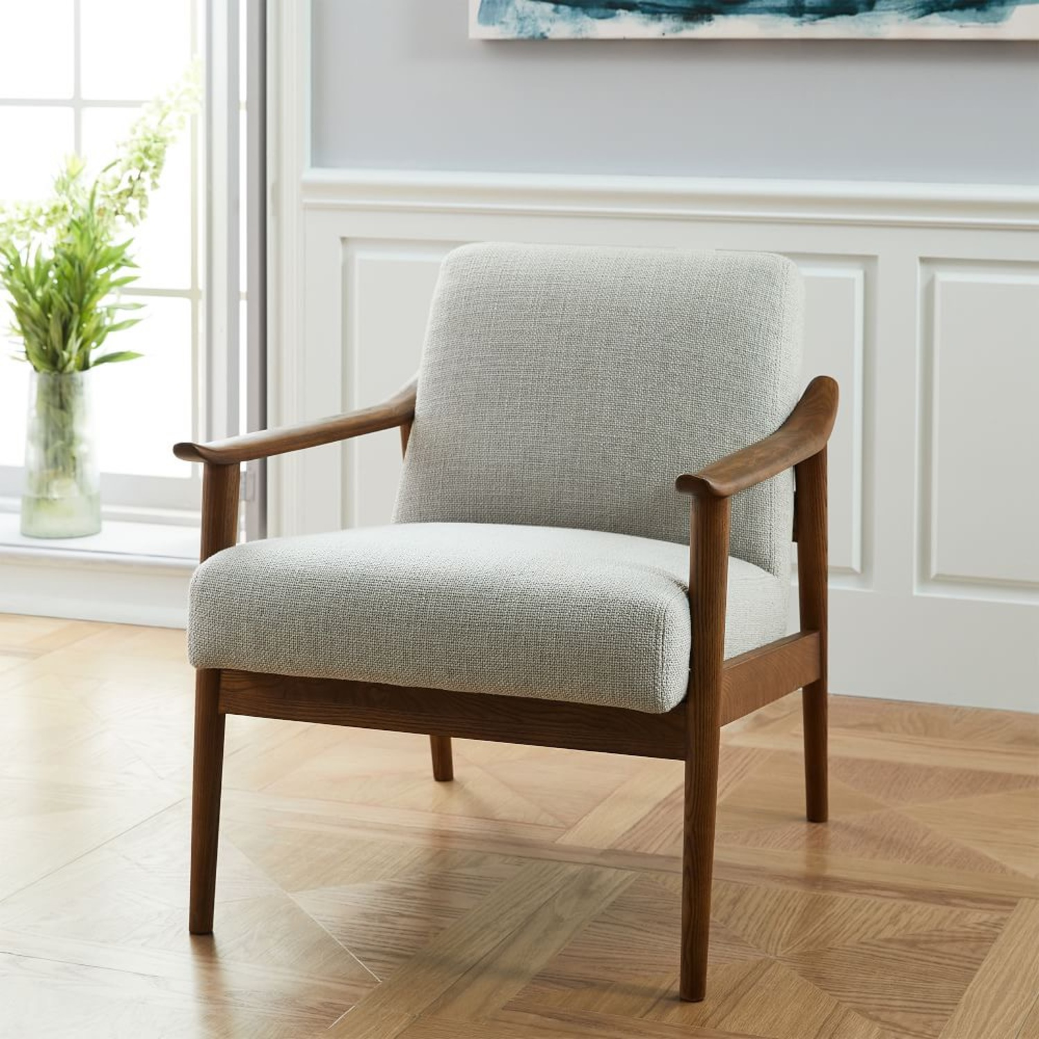 West Elm Mid-Century Upholstered Chair - image-1