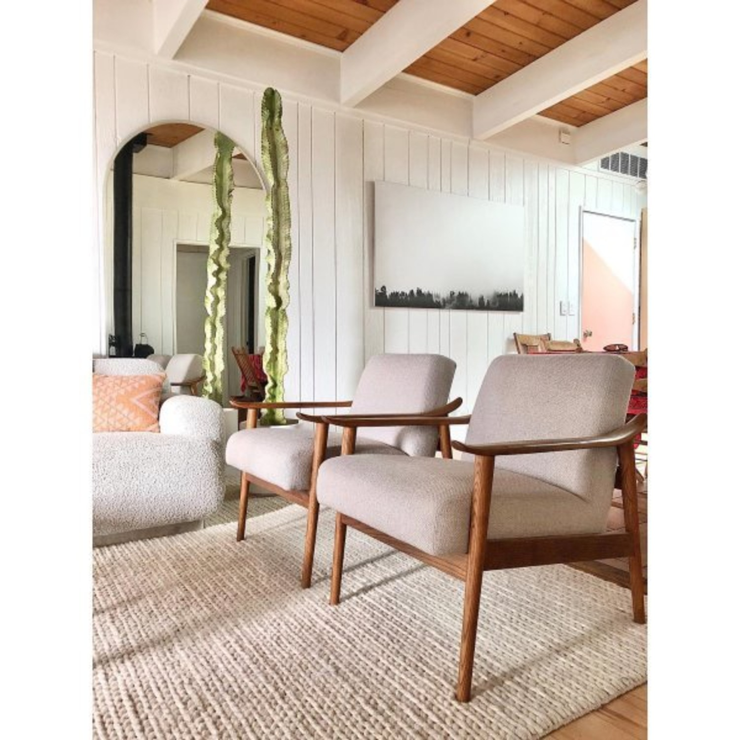 West Elm Mid-Century Upholstered Chair - image-2