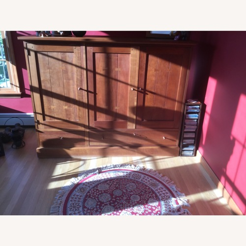 Used Stickley Cherry Entertainment Console for sale on AptDeco