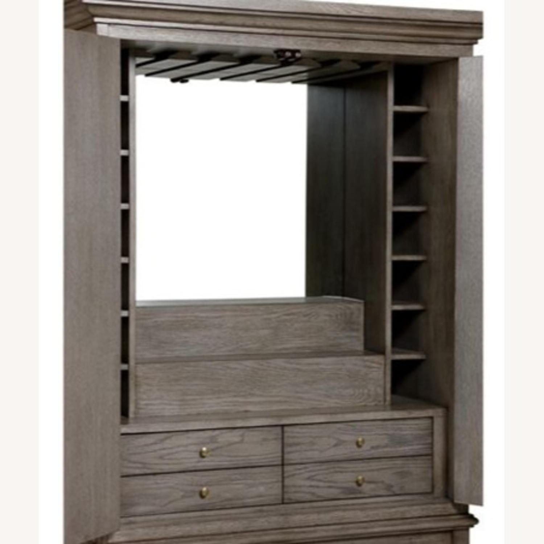 Ethan Allen Carys Bar Cabinet Sunwashed Gray - image-2
