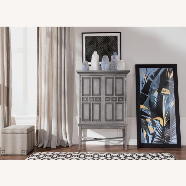 Ethan Allen Carys Bar Cabinet Sunwashed Gray - image-1
