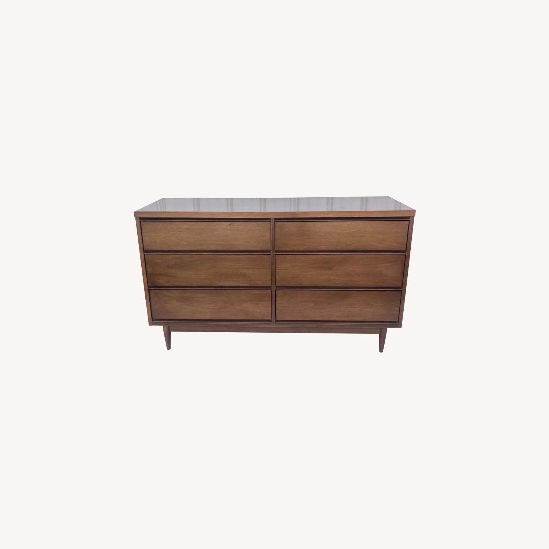 Mid Century Modern Six Drawer Dresser - image-0