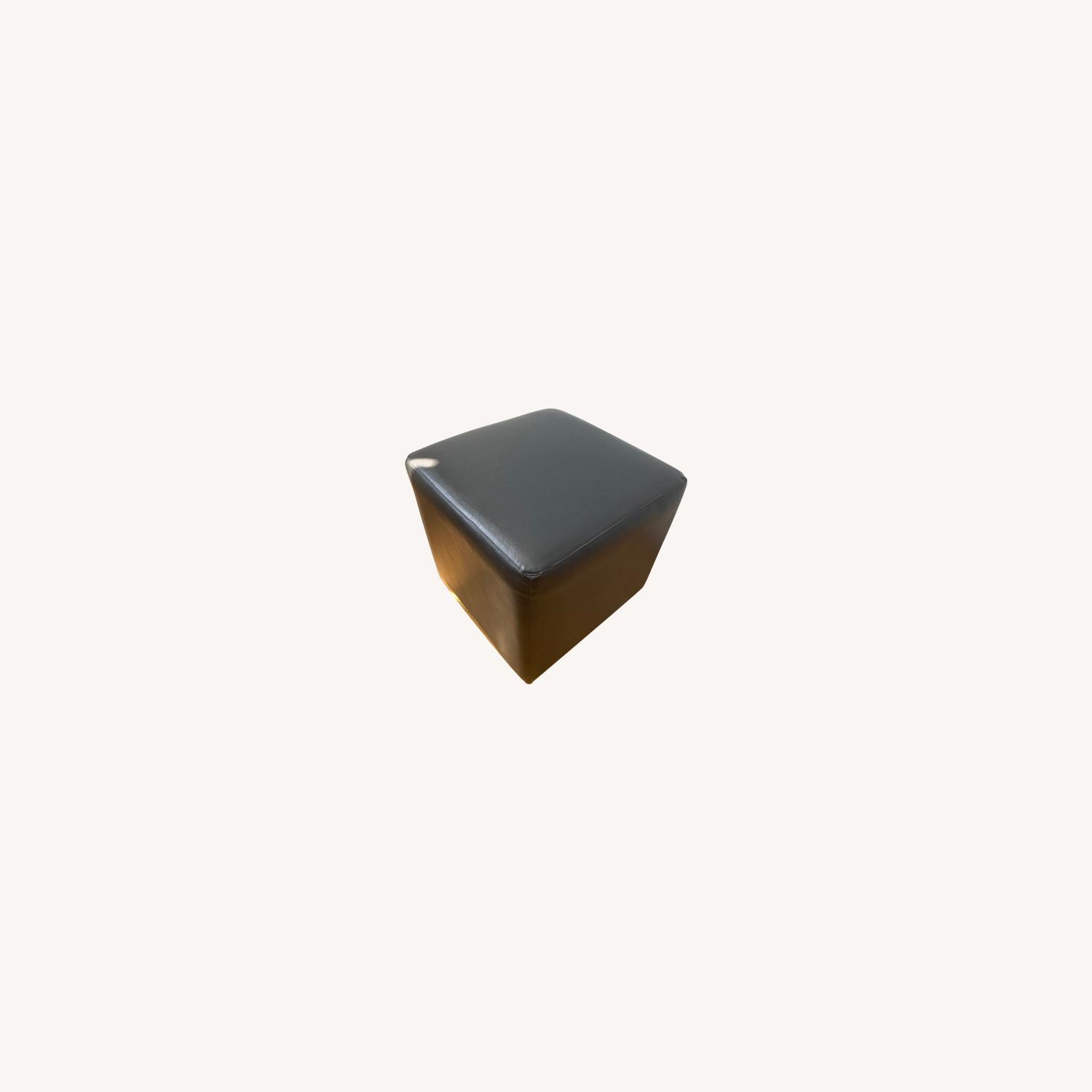 Raymour & Flanigan Brown Faux Leather Cubes - image-0