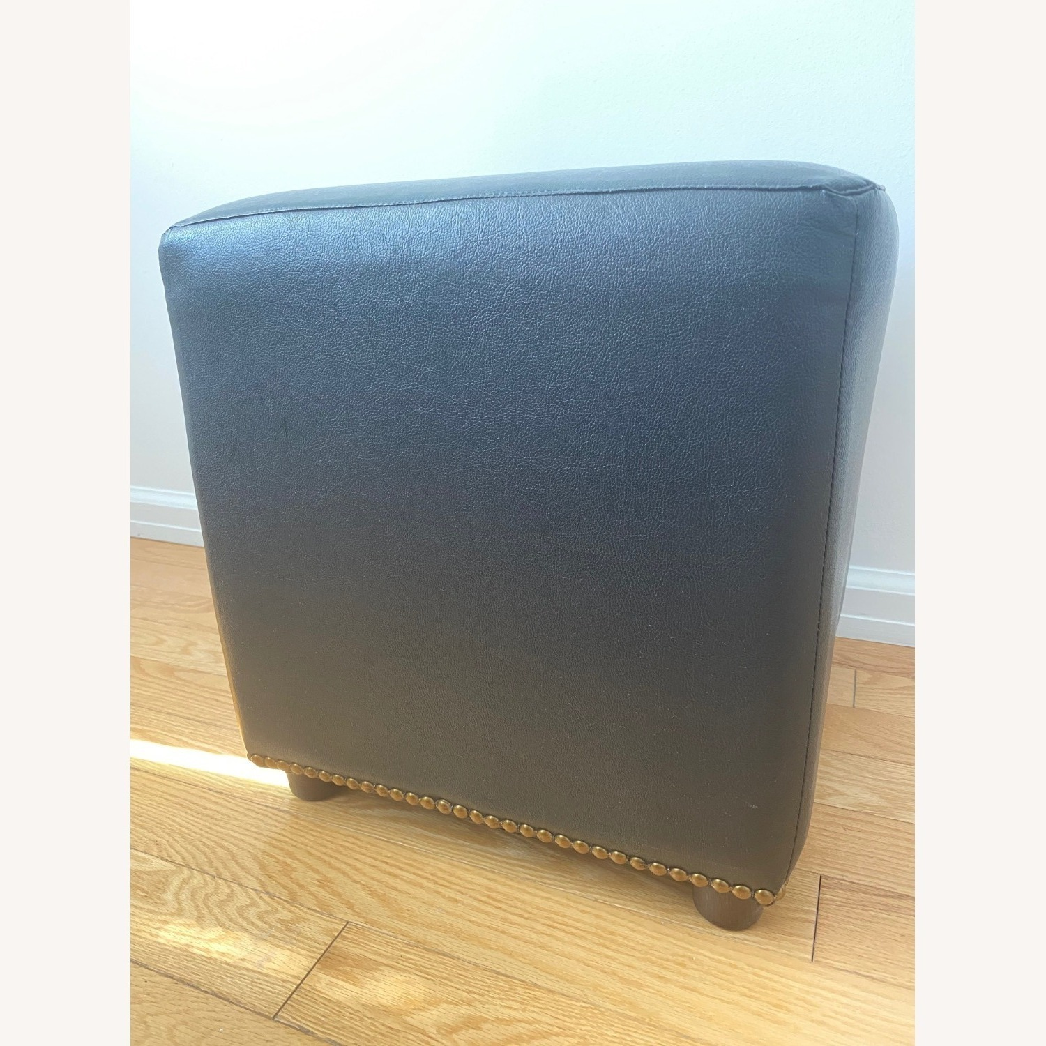 Raymour & Flanigan Brown Faux Leather Cubes - image-3