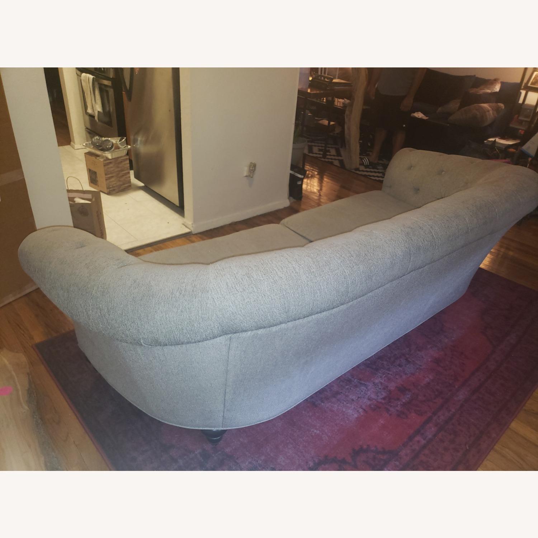 Raymour & Flanigan Gray Tufted Sofa - image-5