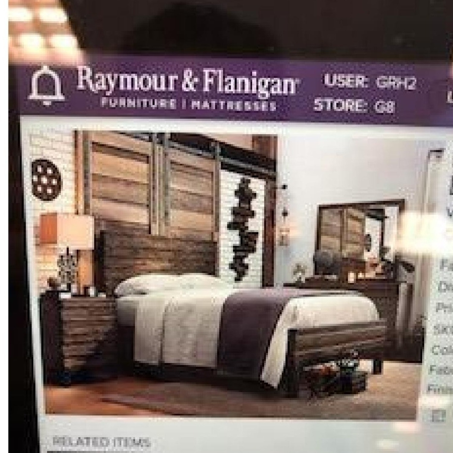Raymour & Flanigan Queen Bed Nara collection - image-4