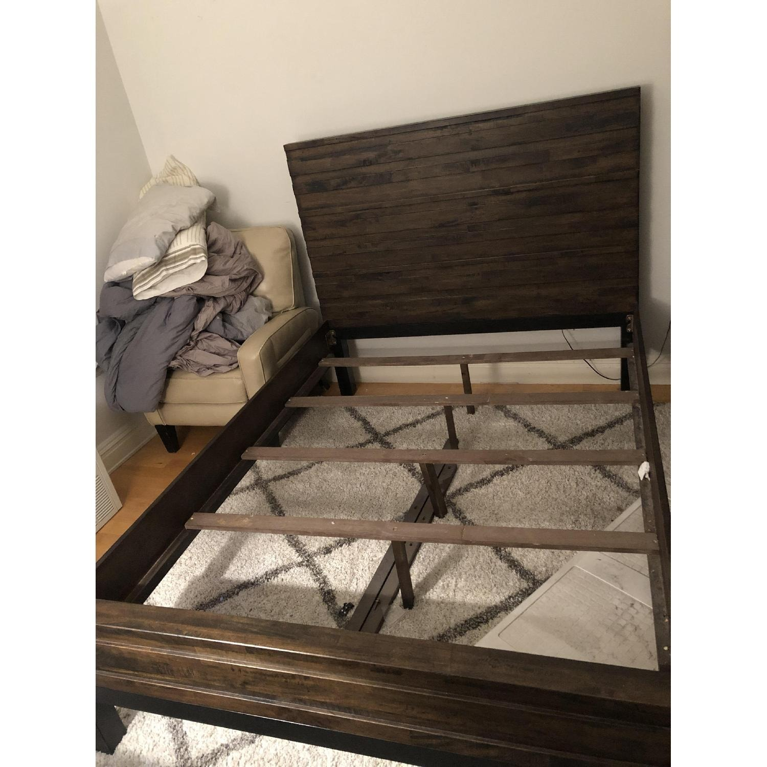 Raymour & Flanigan Queen Bed Nara collection - image-1