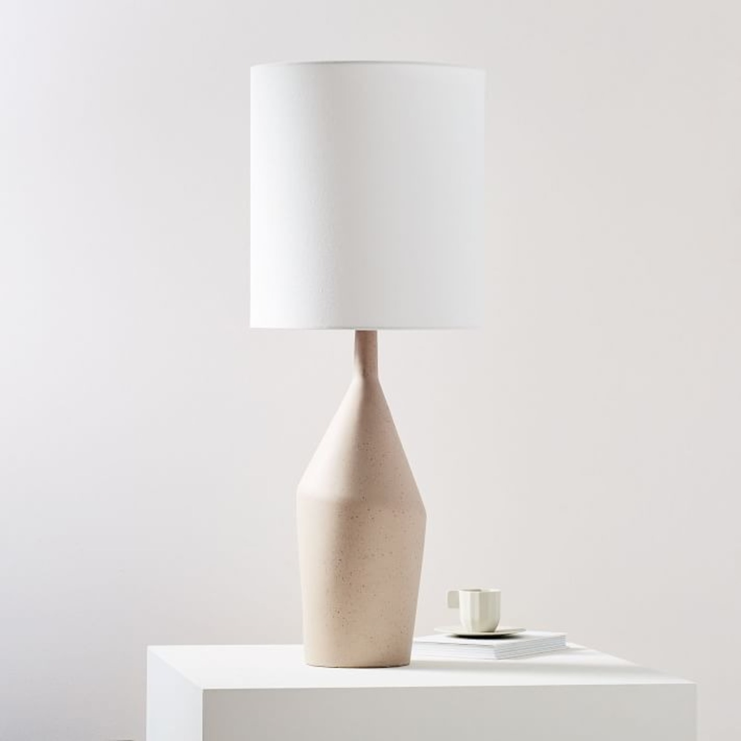 West Elm Asymmetry Ceramic Table Lamp - image-0