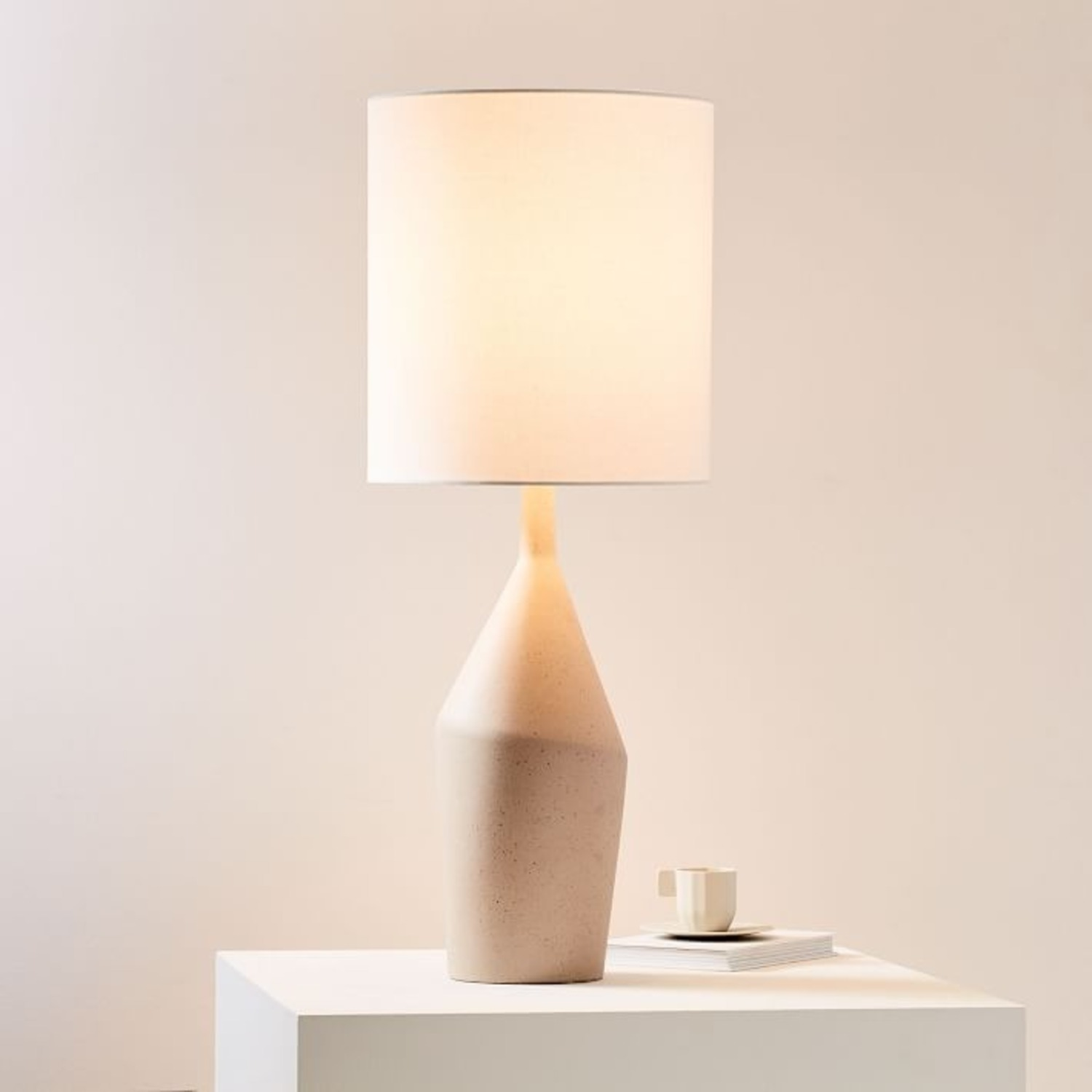 West Elm Asymmetry Ceramic Table Lamp - image-1