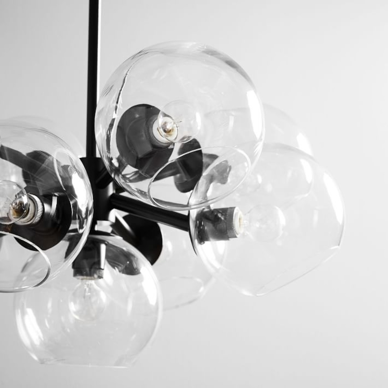 West Elm Staggered Glass 9-Light Chandelier - image-1