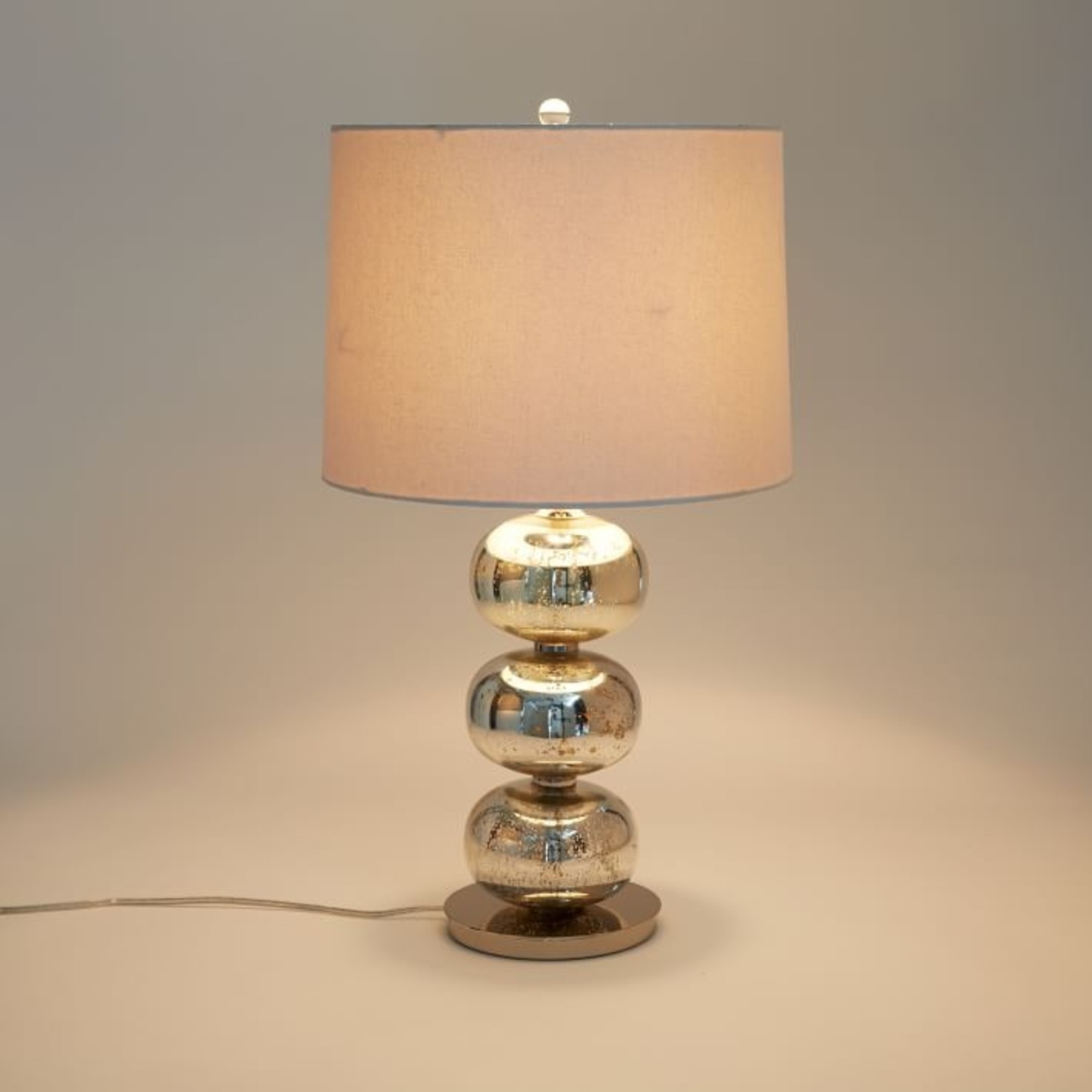 West Elm Abacus Mercury Glass Table Lamp - image-1