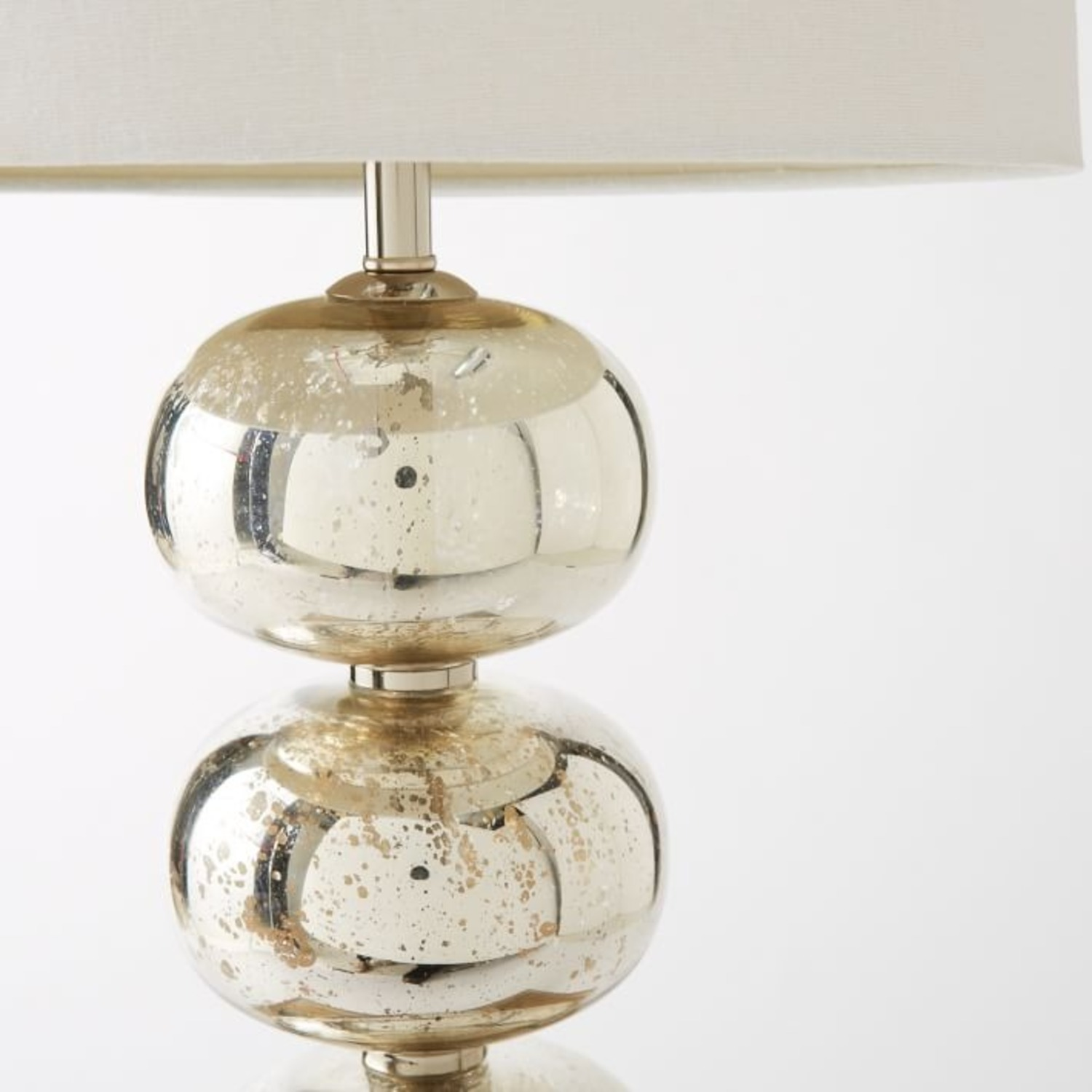 West Elm Abacus Mercury Glass Table Lamp - image-2