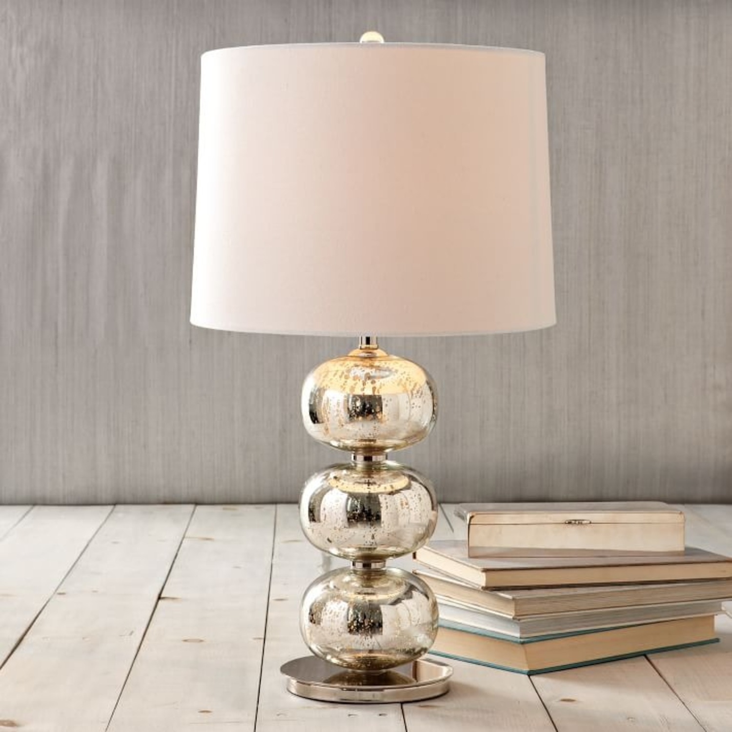 West Elm Abacus Mercury Glass Table Lamp - image-0