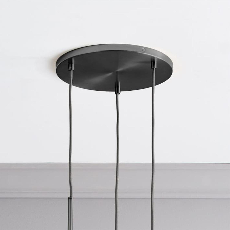 West Elm Sculptural Glass 3 Lt Round Canopy - image-0