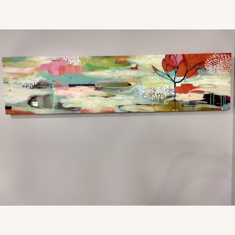West Elm Modern Colorful Horizontal Canvas Wall Art - image-2