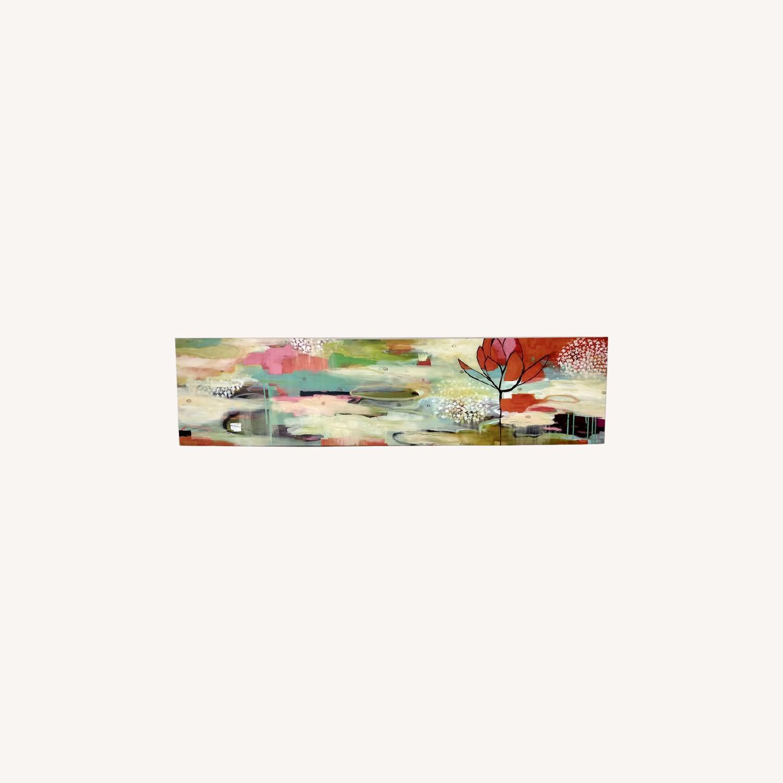 West Elm Modern Colorful Horizontal Canvas Wall Art - image-0