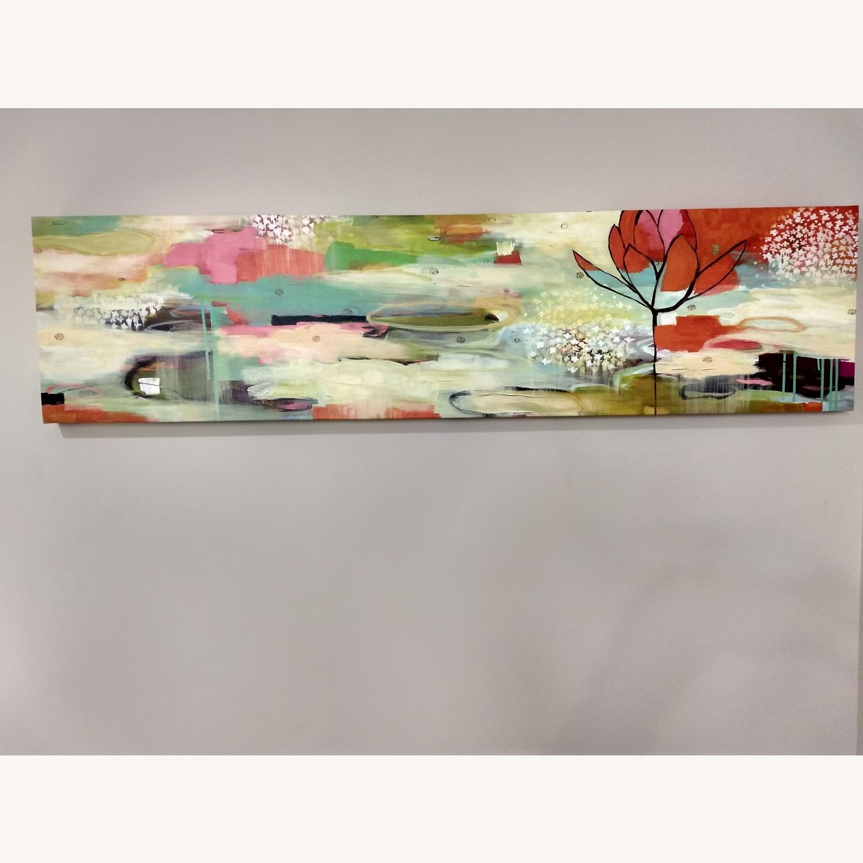 West Elm Modern Colorful Horizontal Canvas Wall Art - image-1