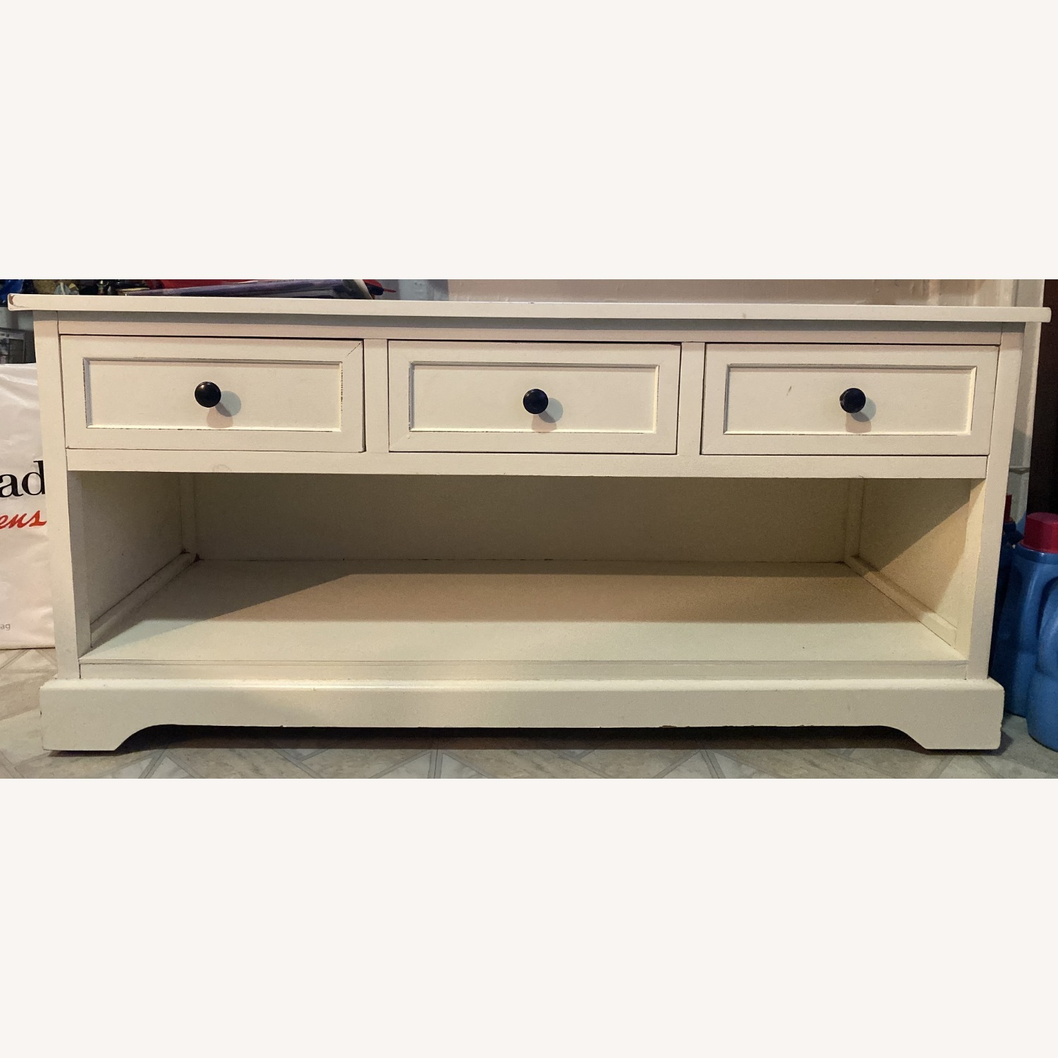 White Credenza with Baskets - image-0
