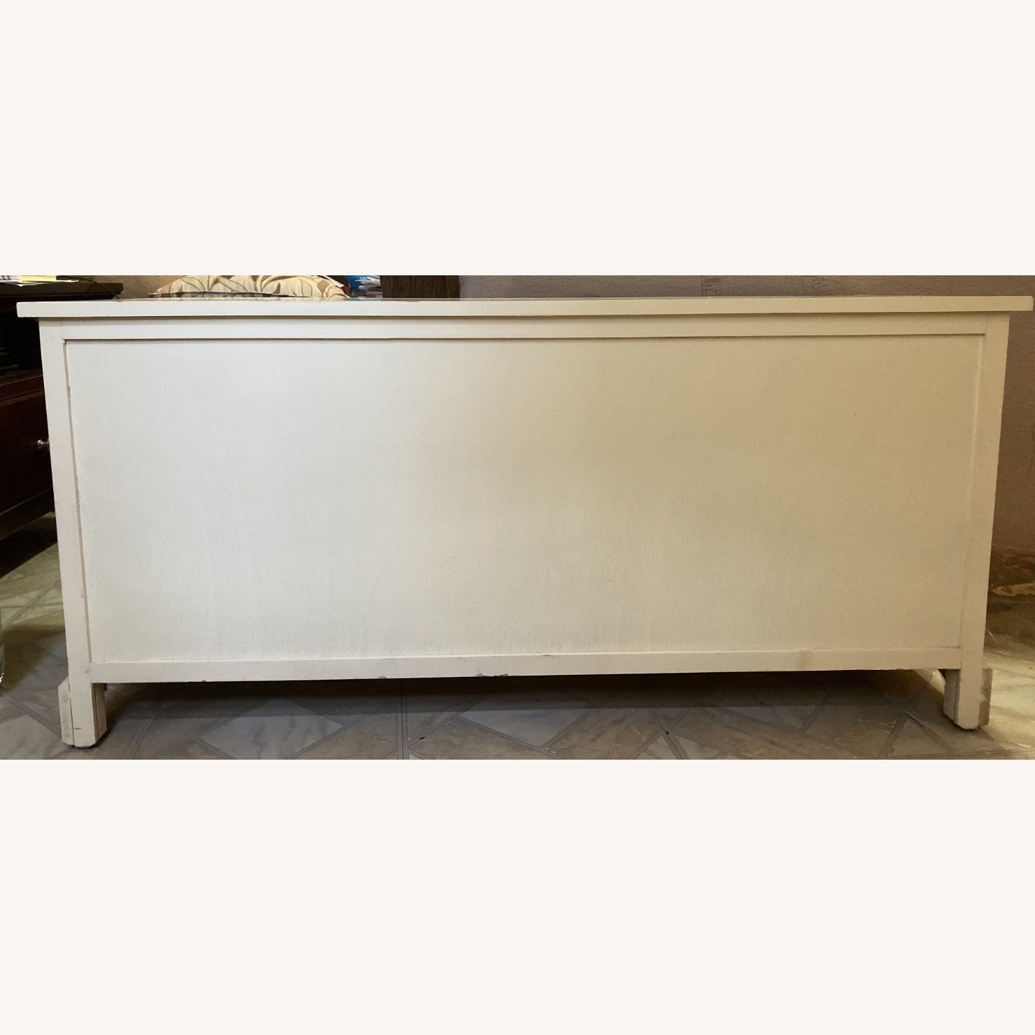 White Credenza with Baskets - image-2