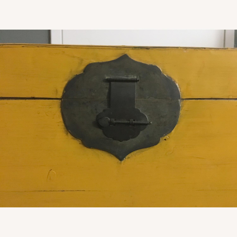 Antique Asian Wood Chest - image-5