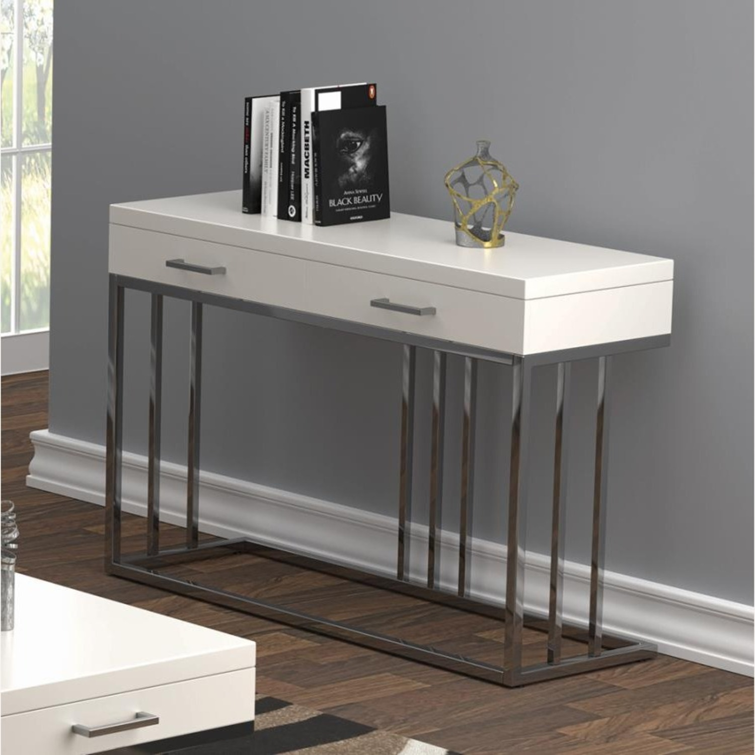 Sofa Table In Modern Linear Design - image-4