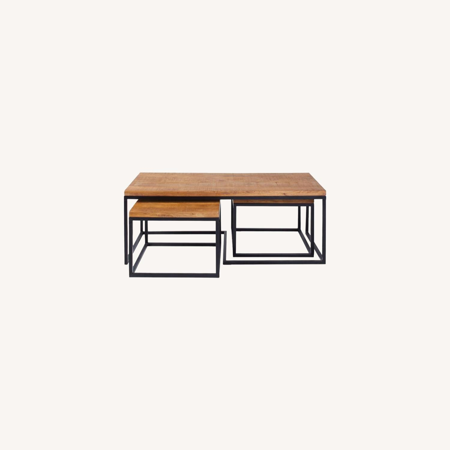 Coffee Table In Natural Brown Finish - image-5