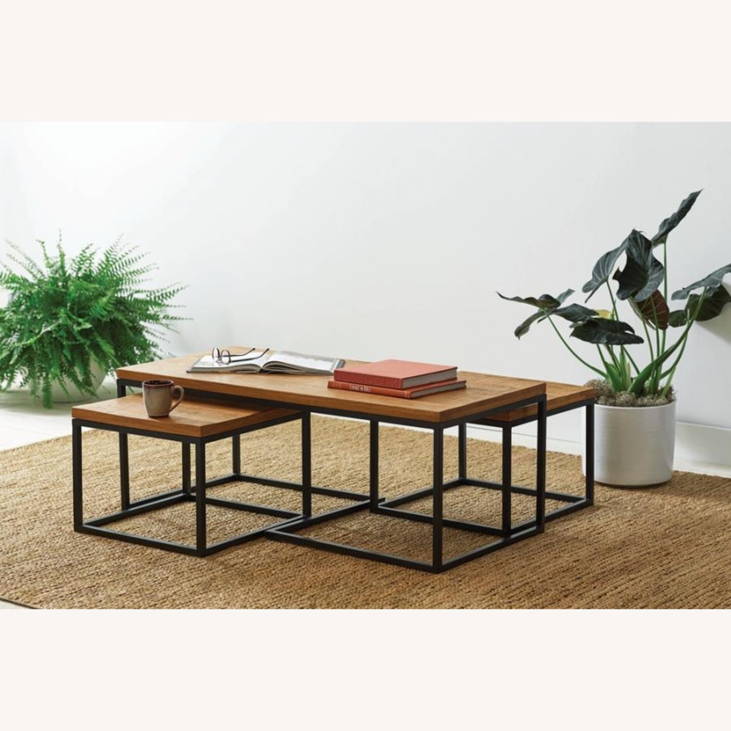 Coffee Table In Natural Brown Finish - image-4