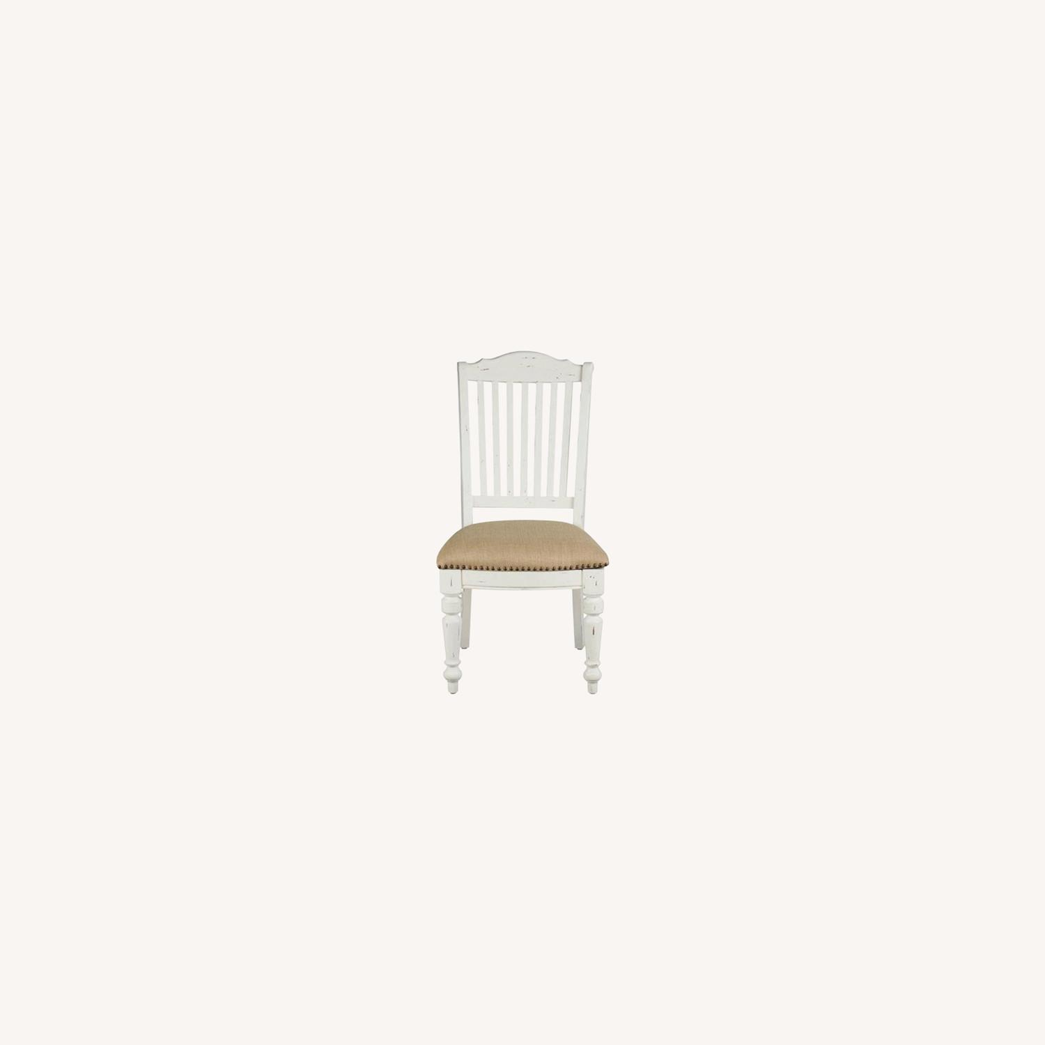 Rustic Farmhouse Style Side Chair In White Finish - image-6