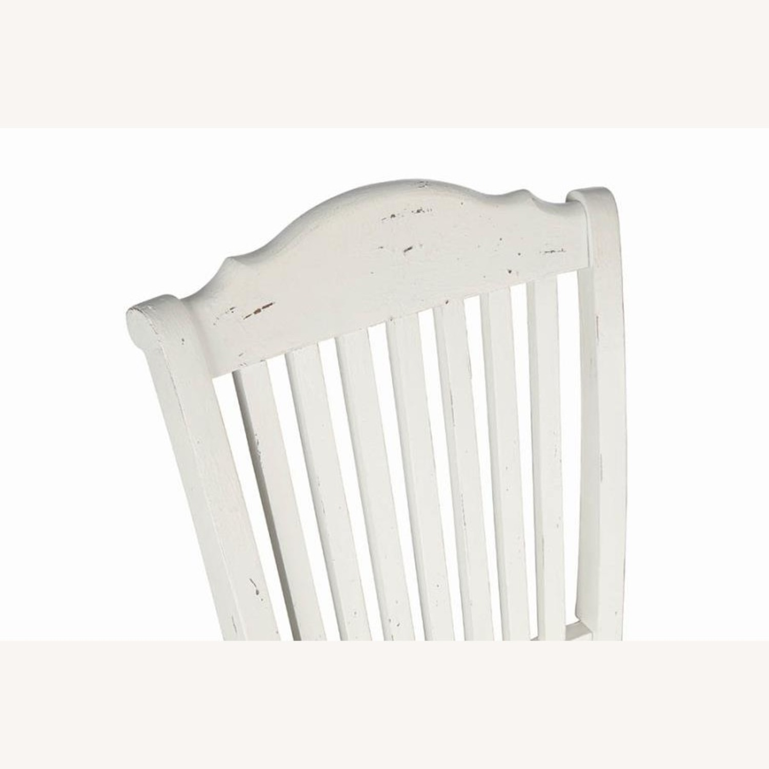 Rustic Farmhouse Style Side Chair In White Finish - image-3