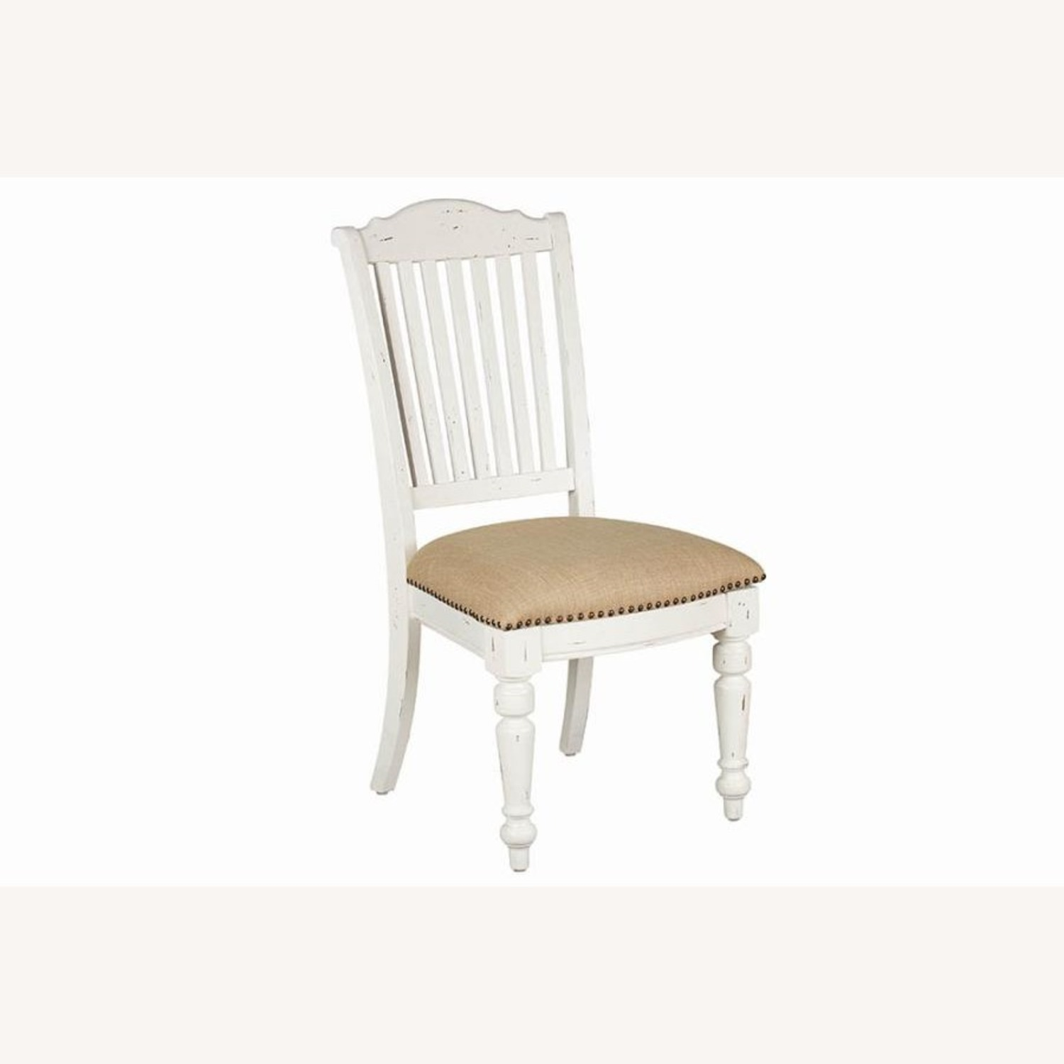 Rustic Farmhouse Style Side Chair In White Finish - image-0