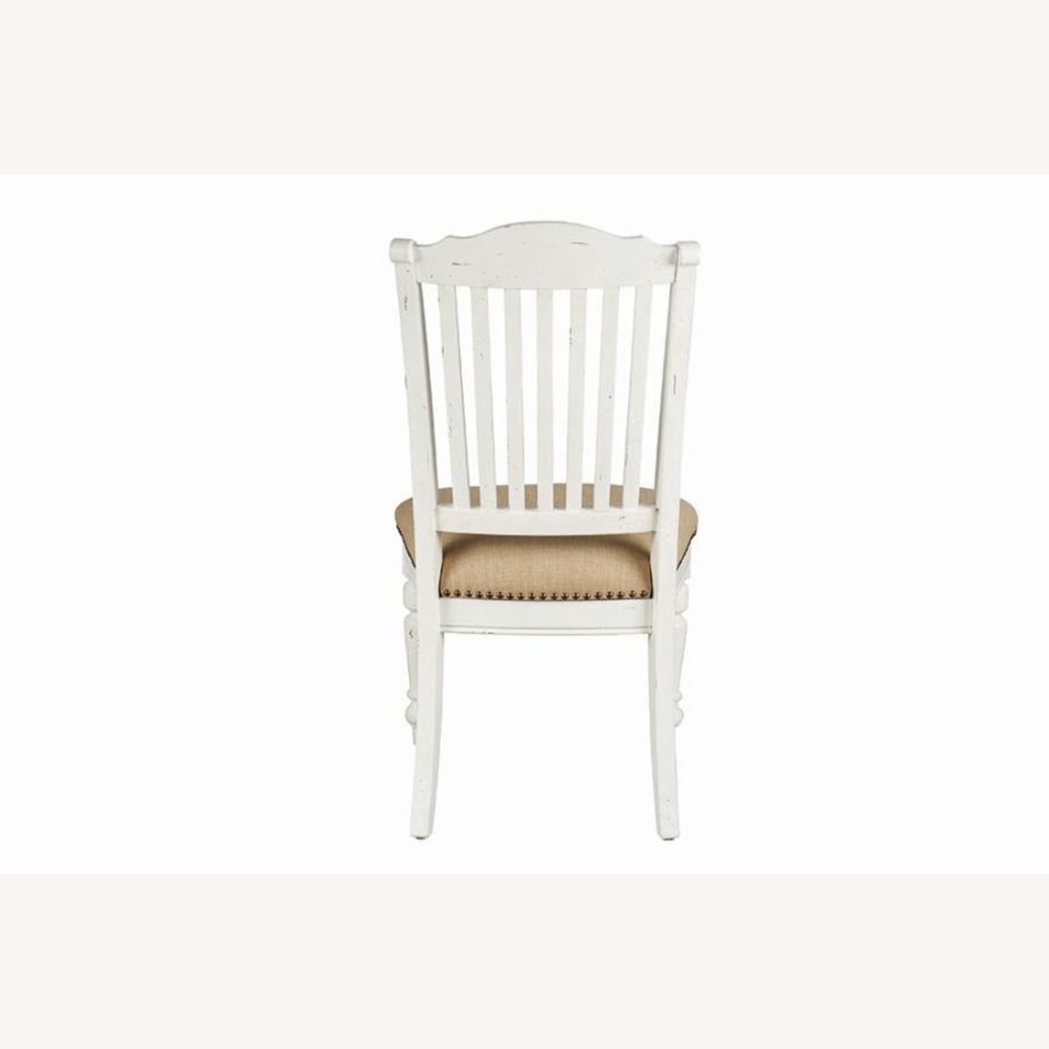 Rustic Farmhouse Style Side Chair In White Finish - image-2
