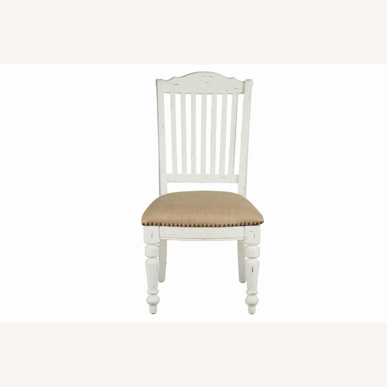 Rustic Farmhouse Style Side Chair In White Finish - image-1