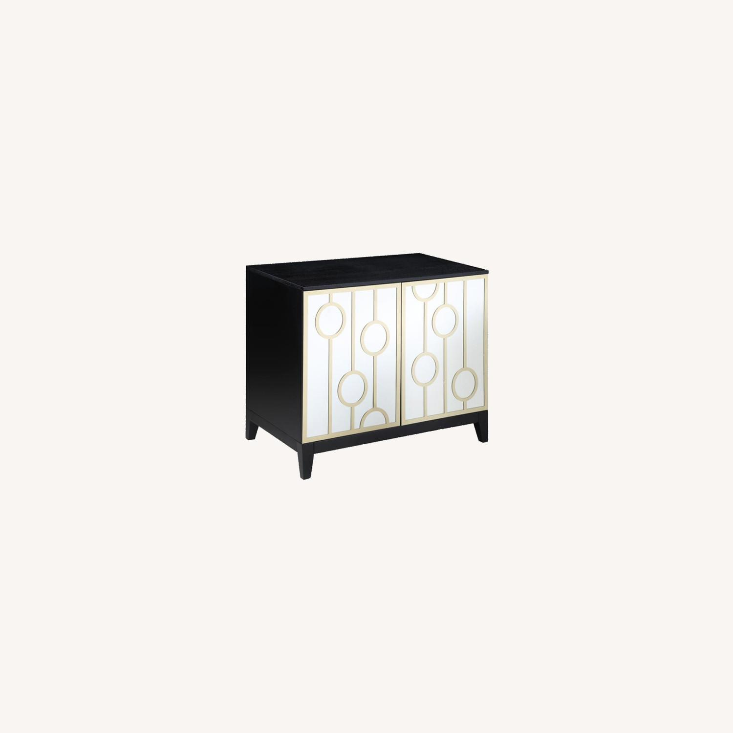 Server W Decorative Mirrored Fronts & Gold Rings - image-5